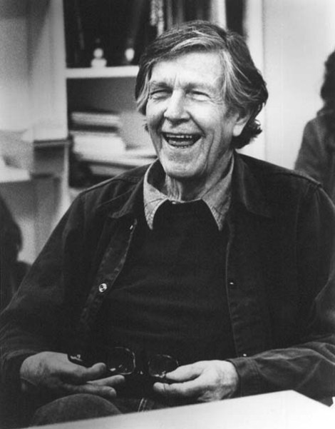 John Cage. Portrait by Susan Schwartzenberg/The Exploratorium.