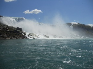 This is a picture I took while on the Maid of the Mist at Niagara Falls.