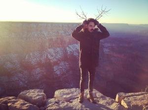Taylor at the Grand Canyon.